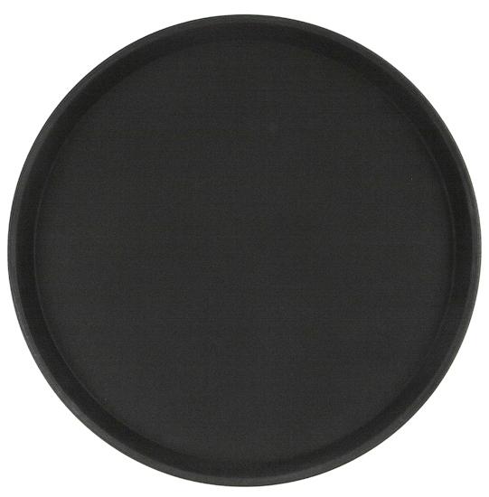 Поднос прорезиненный круглый VERLEX 350х25 мм черный 1400CT Black, кт940.