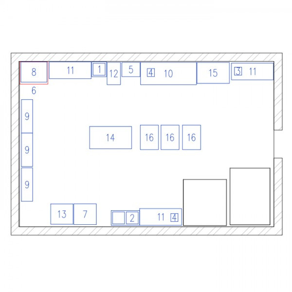 схема помещения кондитерского цеха