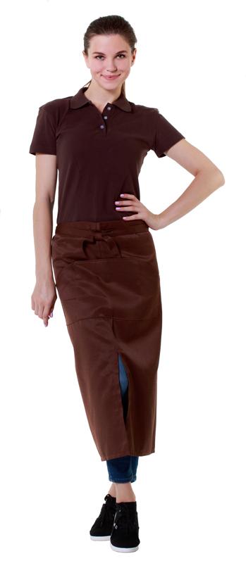 1275805812971 Футболка-поло женская коричневая с коротким рукавом — купить в ...