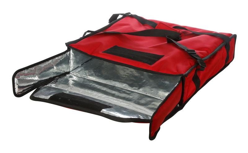 Термосумка на 2 пиццы 450х450х100 мм фольгированная XXL красная с  вентиляцией b3b50c6f12a